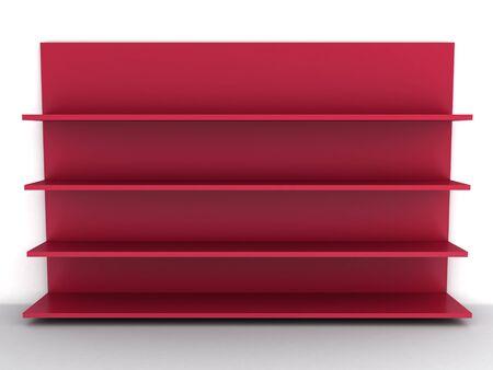 Empty red shelf Stock Photo - 9962941