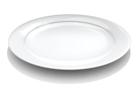white plate: Dish  Stock Photo