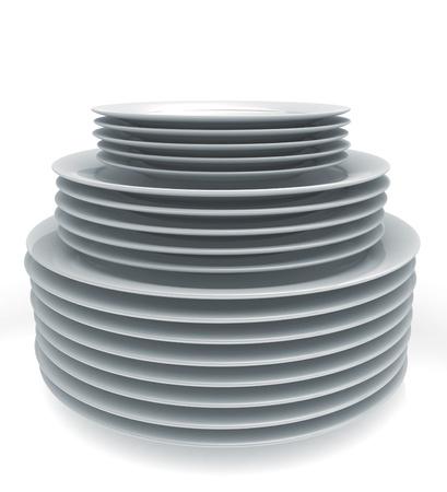 lavare piatti: Pila di piatti