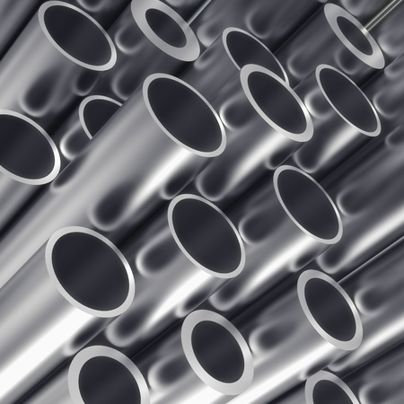 stainless steel background: Metal tube