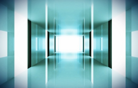 hospital corridor: Corridor
