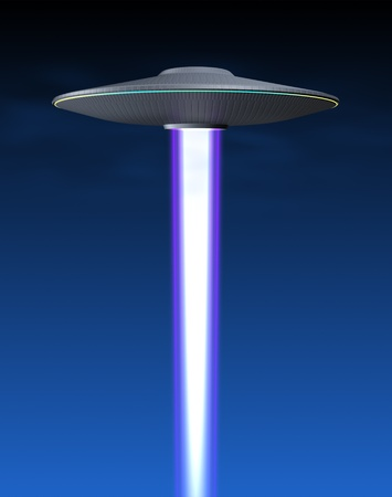 Flying saucer and energy beam