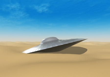 UFO crashed in the desert  photo