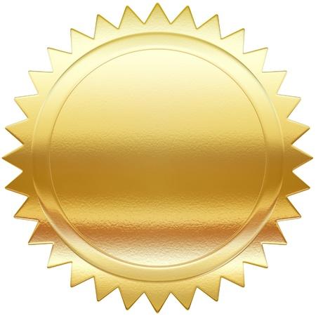 medallion: Golden label