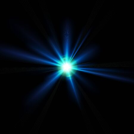 blue flare Stock Photo - 9943918