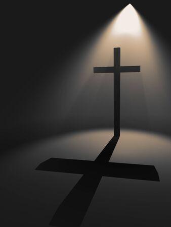 Cross in the light
