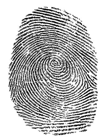 crimes: finger print Stock Photo