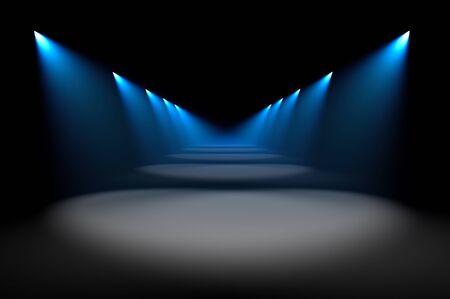 Blue illumination  photo