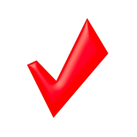 Red check mark Stock Photo - 9943859