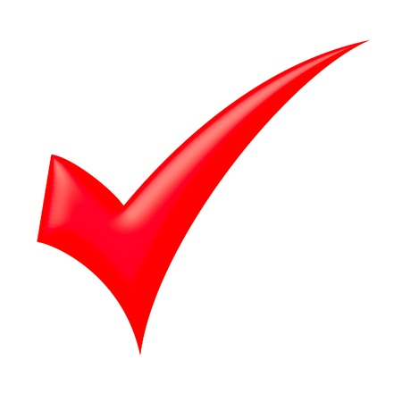 Red check mark Stock Photo - 9943861