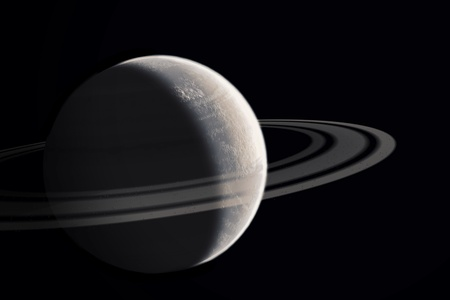 saturn rings: Planet with ring  Stock Photo