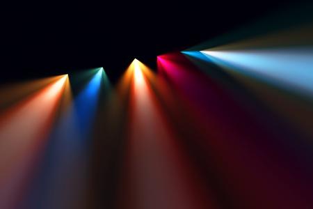 航空ショー: 舞台照明の背景