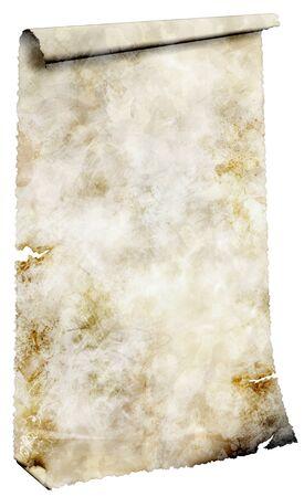 torn edge: Antique paper scroll