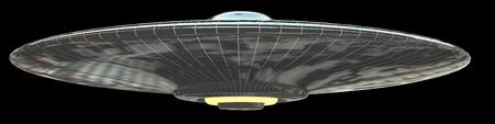 platillo volador: OVNI - aislados en negro Foto de archivo