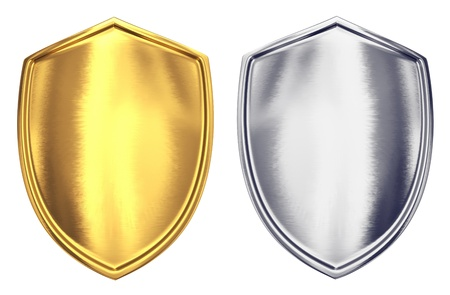 security token: Shields - isolated on white background