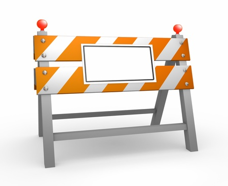 Road barrier - isolated on white background photo