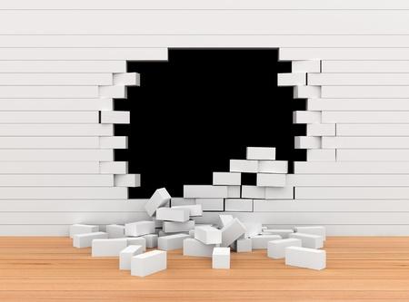 Broken Brick Wall  photo