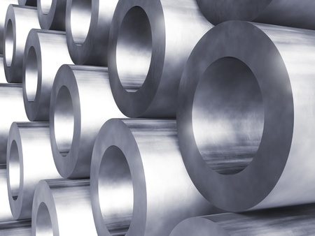 tubing: Steel pipes Stock Photo