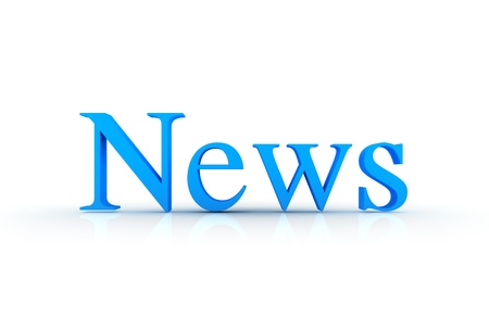 press news: News - 3d text  Stock Photo