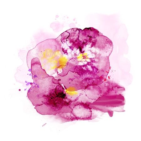 watercolor splash: Abstract watercolor paint Stock Photo