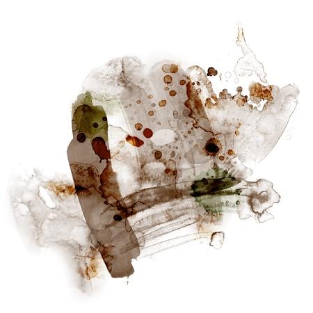 Abstract aquarel verf