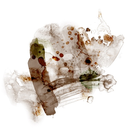 ink blot: Abstract watercolor paint Stock Photo