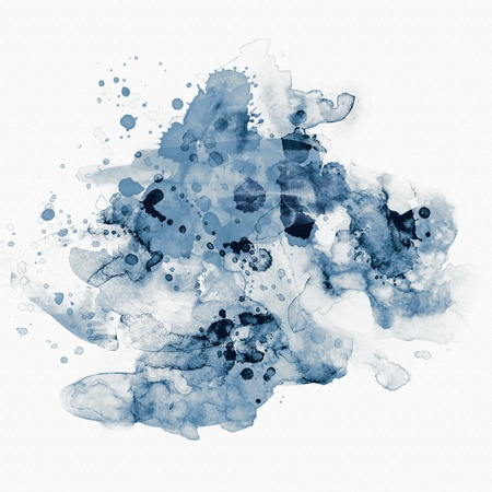blot: Abstract watercolor paint Stock Photo