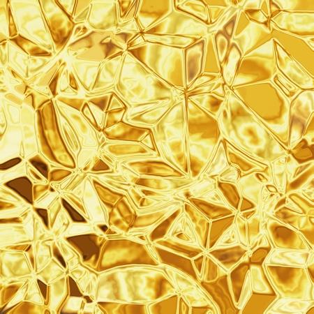 paper plates: gold foil