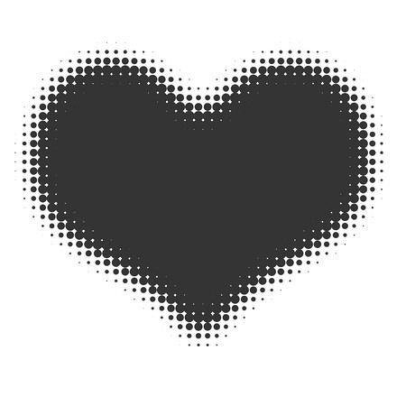 Heart halftone  photo