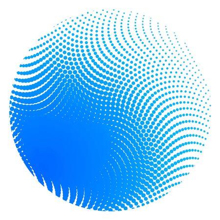 Halftone blue ball  photo