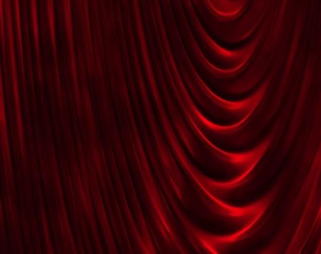 velvet background: red curtain