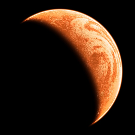 mars: red planet  Stock Photo
