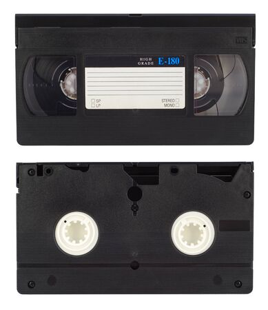 video cassette tape: Video tape - isolated on white background