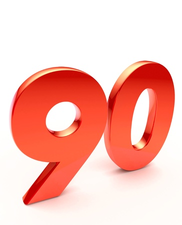ninety: ninety Stock Photo