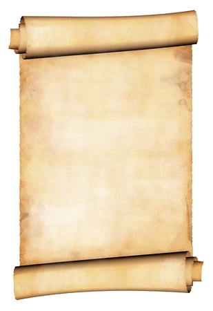 medieval scroll: Antique paper scroll