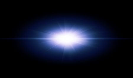 emanation: Blue flash with rays