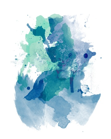 spots: Abstract watercolor paint Stock Photo