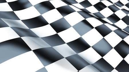 checkered flag Stock Photo - 10182912