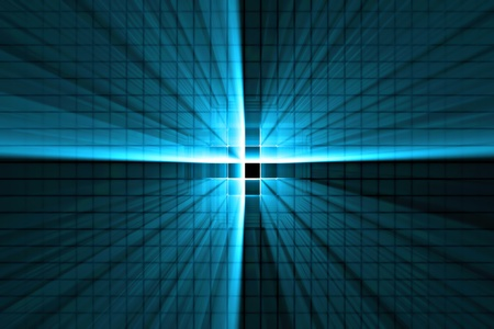 perpendicular: Blue Light Beam Stock Photo