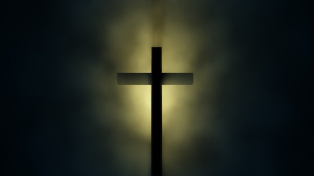 cross in the dark Stock Photo - 10182939