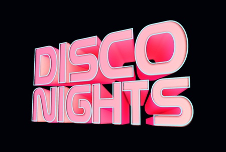 disco dancer: Disco Nights Stock Photo