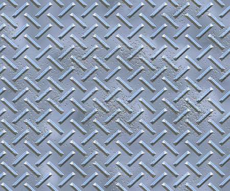 tiles floor: metal texture (diamond plate)