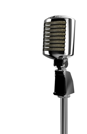 vintage golden mic Stock Photo - 10182909