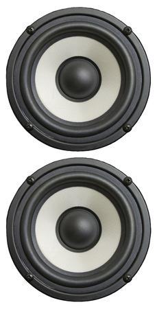 sub woofer: audio speaker isolated  Stock Photo