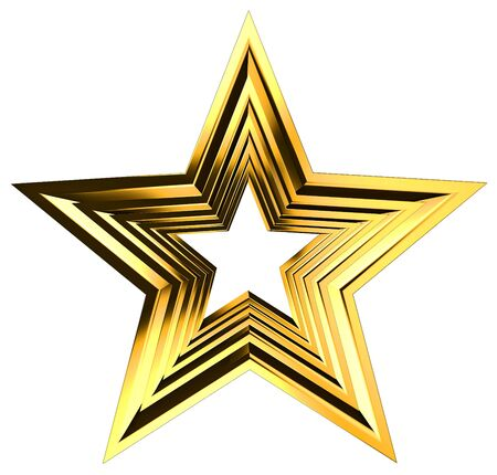 golden star Stock Photo - 10182962