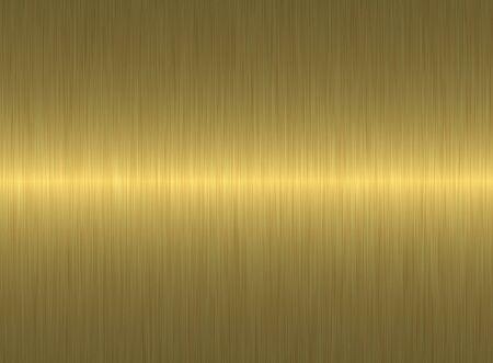 brushed gold: golden metal texture Stock Photo