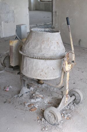 Old cement mixer photo