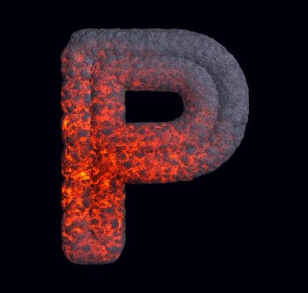 Hot metal font  photo