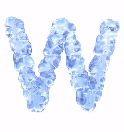 ice alphabet: Ice Font