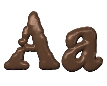 Chocolate alphabet Stock Photo - 10266397